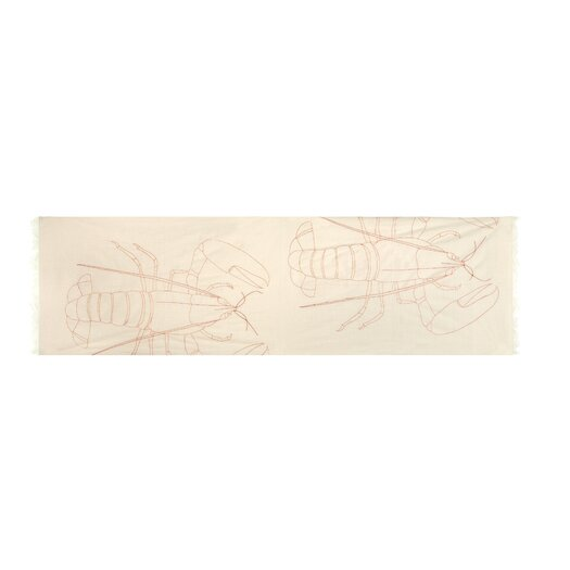 Thomas Paul Scrimshaw Lobster Embroidered Scarf
