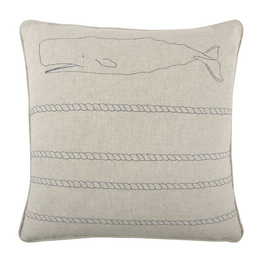 """Thomas Paul 18"""" Whale Rope Pillow"""