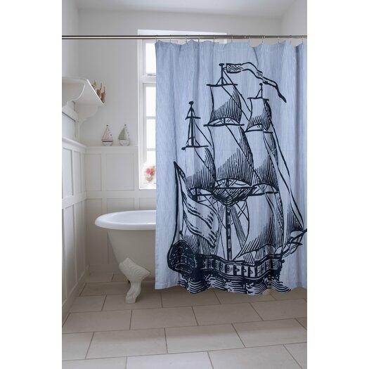 Galleon Cotton Shower Curtain