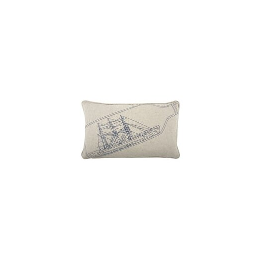 Thomas Paul Ship-in-Bottle 12x20 Pillow