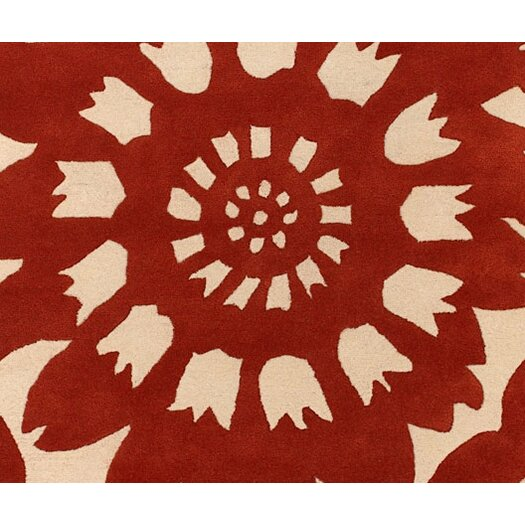Thomas Paul Tufted Pile Persimmon/Cream Zinnia Rug