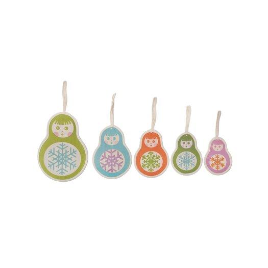 Thomas Paul Gift Items / Holiday 5 Piece Matryoska Ornament Set