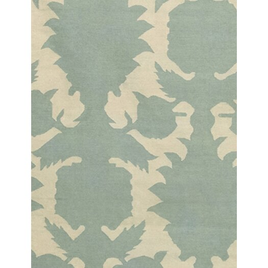 Thomas Paul Flatweave Dhurrie Area Rug Olive /Cream Flock Area Rug