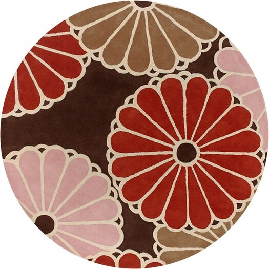 Tufted Pile Choclate/Persimmon Parasols Rug
