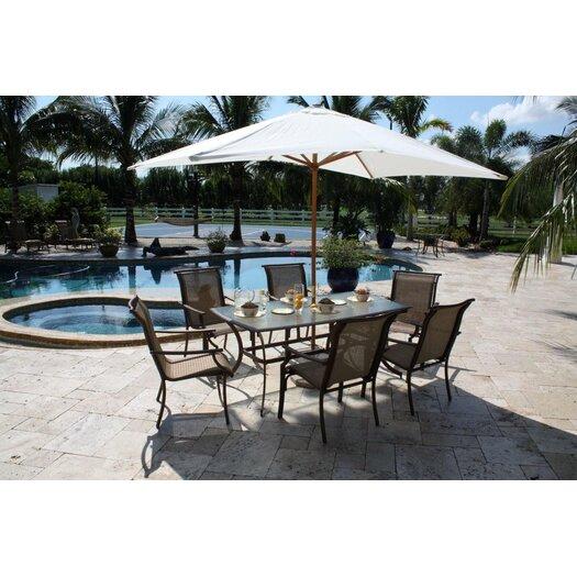Hospitality Rattan Chub Cay Patio 7 Piece Dining Set
