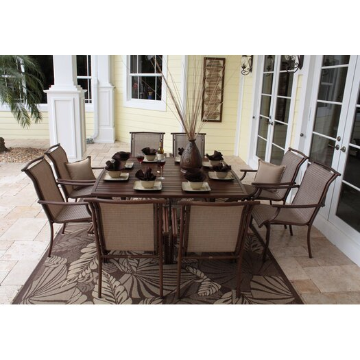 Hospitality Rattan Chub Cay Patio 9 Piece Dining Set