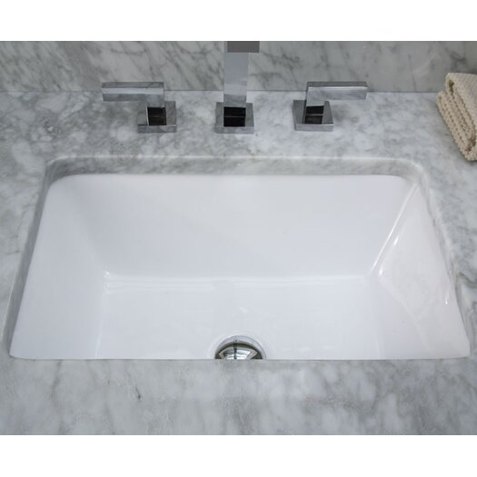 Ryvyr Undermount Rectangular Vitreous China Bathroom Sink