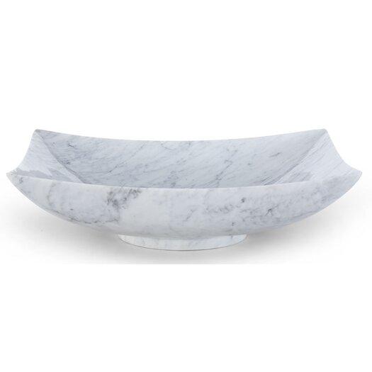 Ryvyr Rectangular Marble Vessel Bathroom Sink