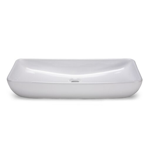 Ryvyr Rectangular Vitreous China Vessel Bathroom Sink