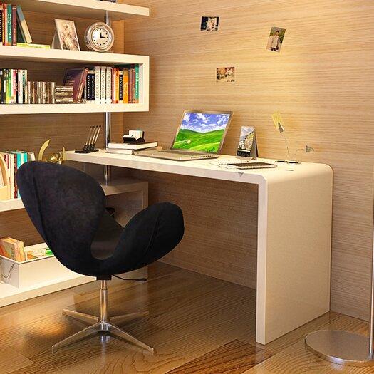 Modern Computer Desk with Hutch