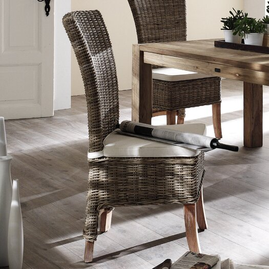 Infinita Corporation Wickerworks Salsa Dining Side Chair with Cushion