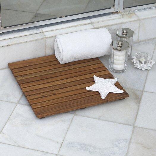 """Infinita Corporation Le Spa 19.7"""" Square Teak Floor and Shower Tile in Oiled Finish"""