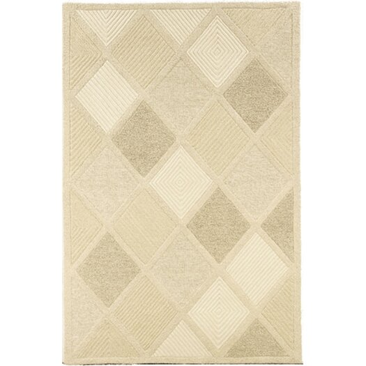 Couristan Super Indo-Natural Astra/White Area Rug