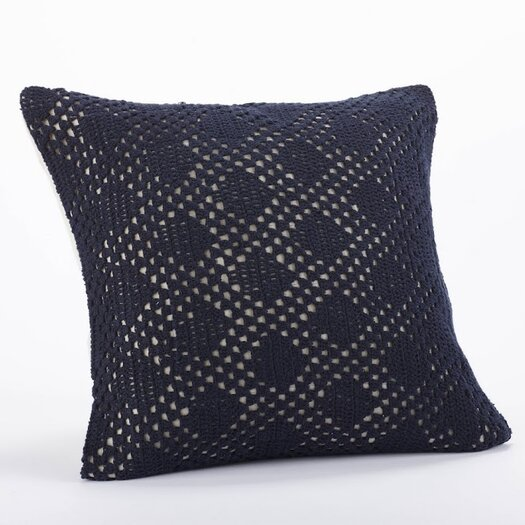 Coyuchi Diamond Crochet Linen Organic Cotton Decorative Pillow