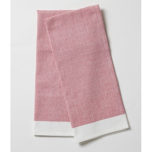 Coyuchi Diamond Chambray Kitchen Towel Set