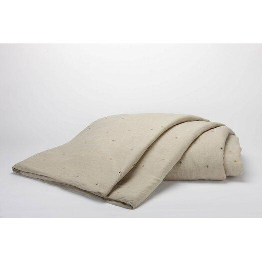 Coyuchi Scattered Embroidered Linen Duvet Cover