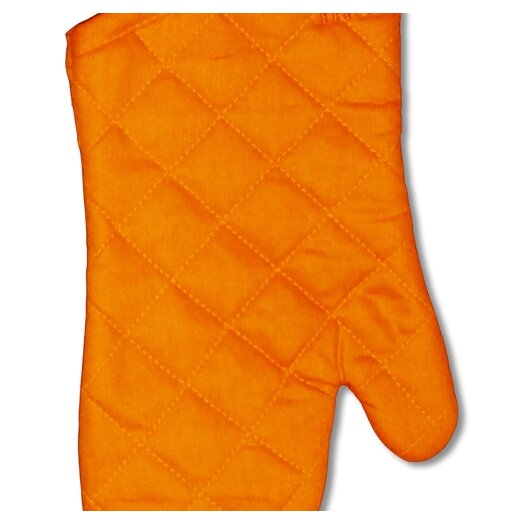 "MU Kitchen MUincotton 13"" Oven Mitt in Orange"