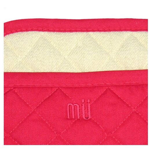 "MU Kitchen MUincotton 9"" Potholder in Crimson"