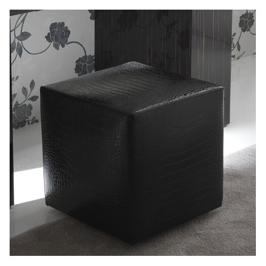 Rossetto USA Nightfly Pouf Leather Ottoman