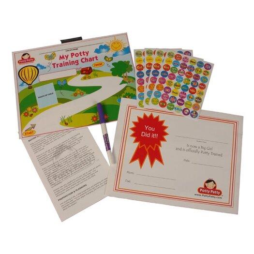Mom Innovations Potty Patty Potty Training Chart and Reward Sticker Set
