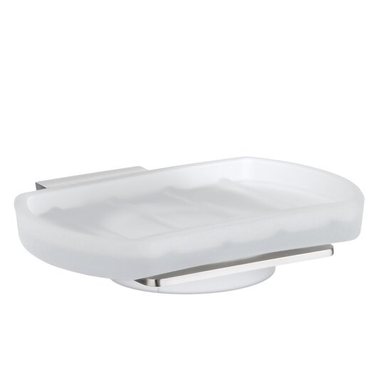 Smedbo Spa Holder with Frosted Glass Soap Dish