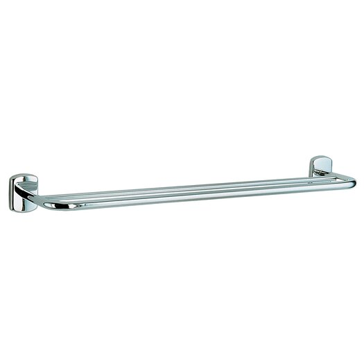 "Smedbo Cabin 24"" Wall Mounted Double Towel Rail"