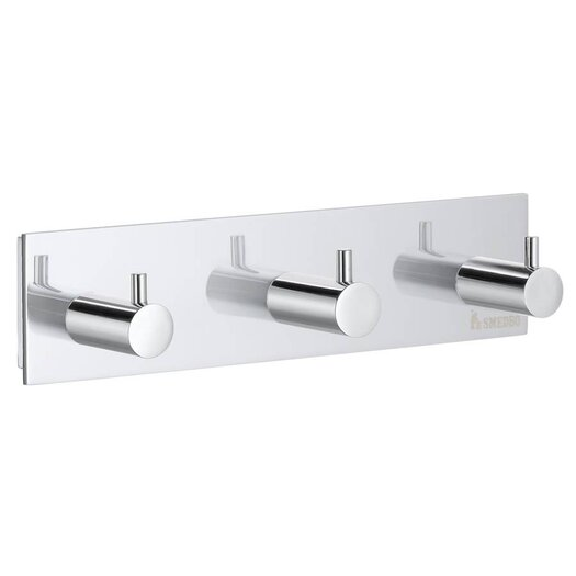 Smedbo Pool Wall Mounted Triple Towel Hook
