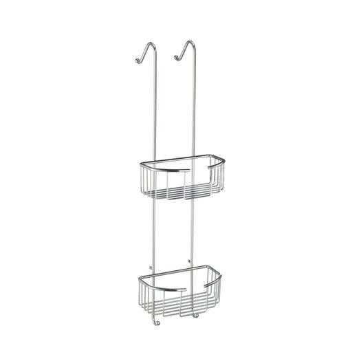 Smedbo Sideline Corner Oval Double Shower Basket in Polished Chrome