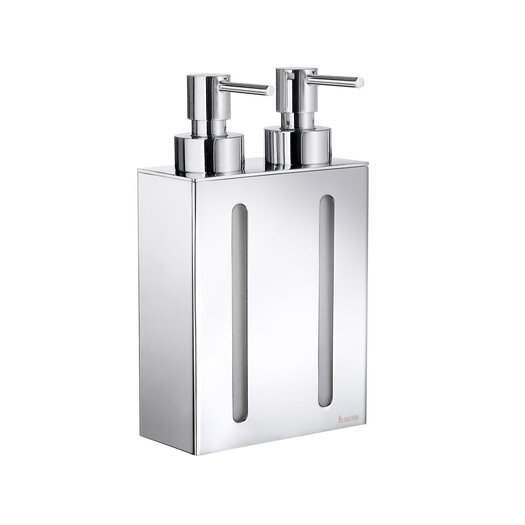 Smedbo Outline Two Container Soap and Lotion Dispenser