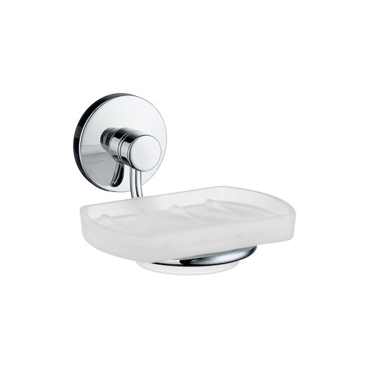 Smedbo Studio Holder with Frosted Glass Soap Dish