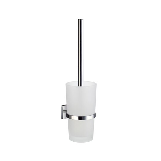 Smedbo House Toilet Brush with Frosted Glass Container