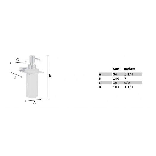 Smedbo Spa Holder with Glass Soap Dispenser