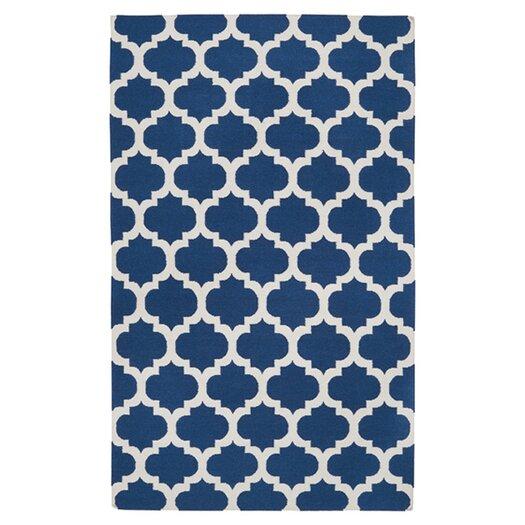 Surya Frontier Mediterranean Blue & Winter White Area Rug