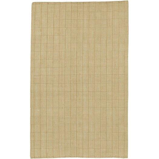 Surya Jute Woven Tan Checkered Rug