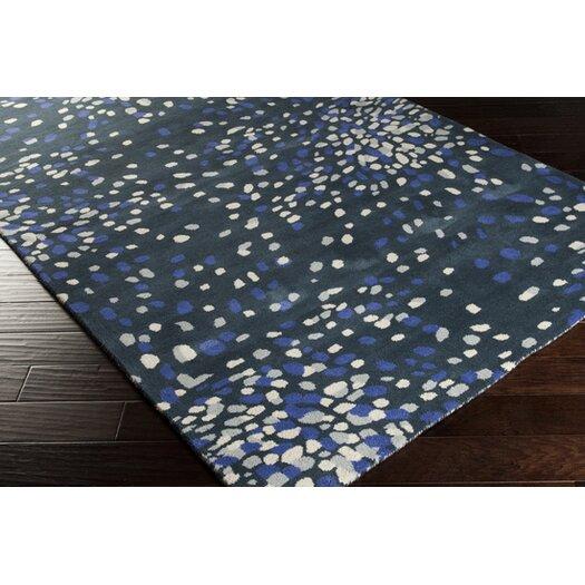 Surya Splatter Bloom Marine Blue Rug