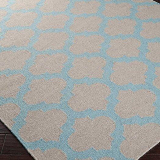 Surya Frontier Oatmeal/Blue Haze Area Rug