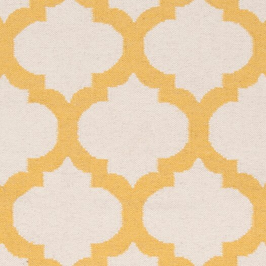 Surya Frontier White/Golden Yellow Area Rug