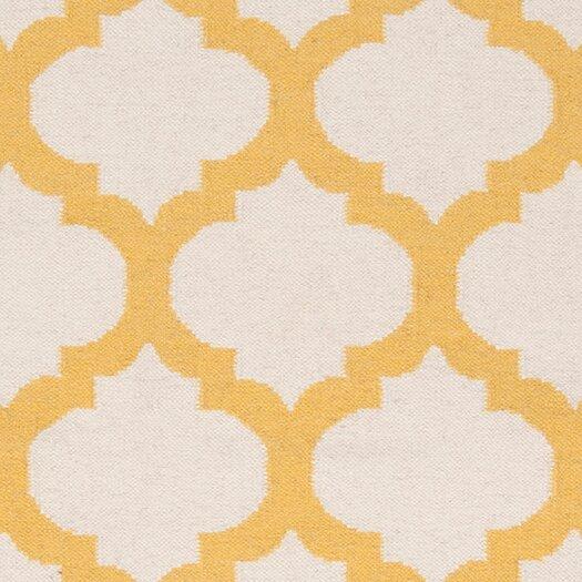 Surya Frontier White & Golden Yellow Area Rug