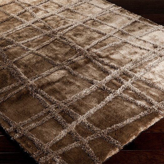 Surya Graph Silver Cloud/Brindle Geometric Area Rug