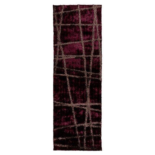 Surya Graph Wine/Raisin Geometric Area Rug