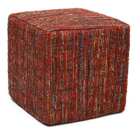 Anji Mountain Saree Pouf Ottoman