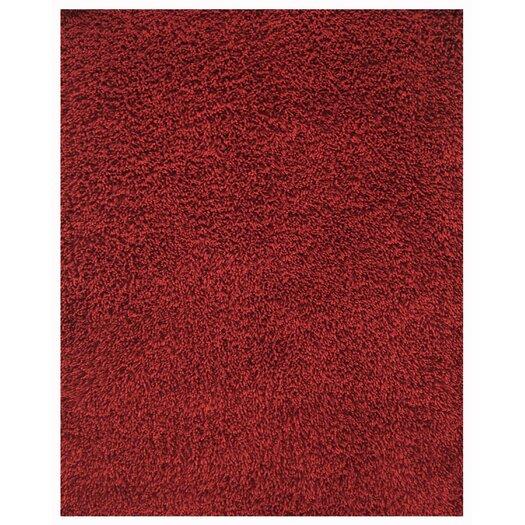 Anji Mountain Silky Shag Crimson Area Rug