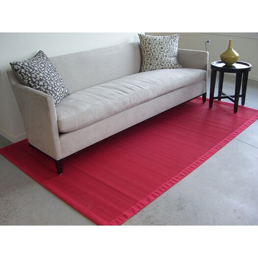 Anji Mountain Bamboo Rugs Villager Crimson Area Rug