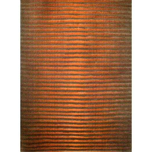Foreign Accents Boardwalk Copper/Brown Area Rug