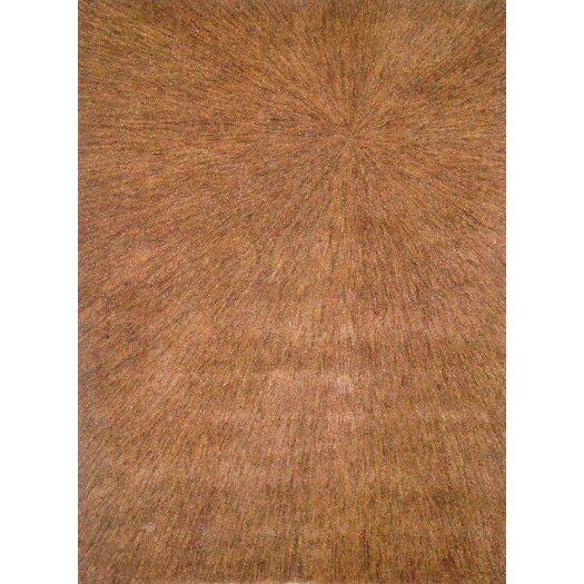 Foreign Accents Boardwalk Gold/Brown Sunburst Area Rug