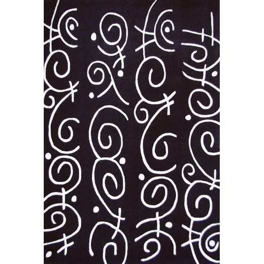 Foreign Accents Festival Charcoal/White Area Rug