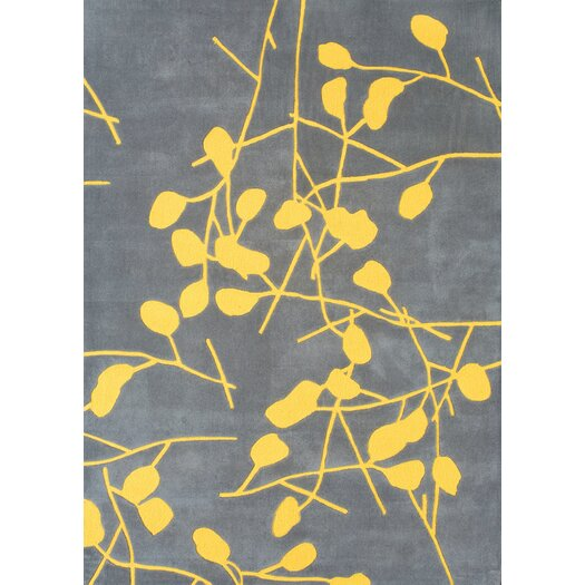 Foreign Accents Festival Grey/Canary Yellow Area Rug