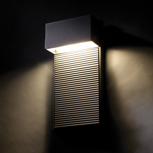 Modern Forms Hiline 2 Light Indoor/Outdoor LED Wall Sconce AllModern