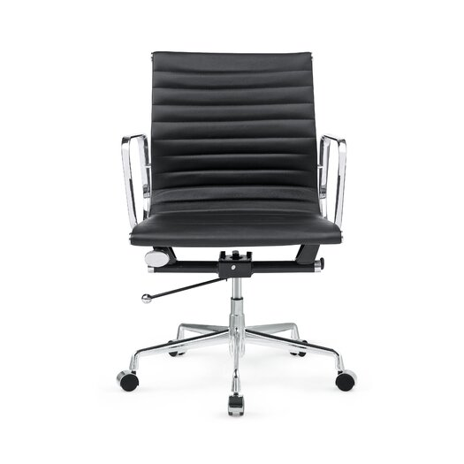 Togo Mid-Back Leather Office Chair