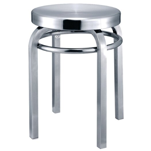 Navy Swivel Stool
